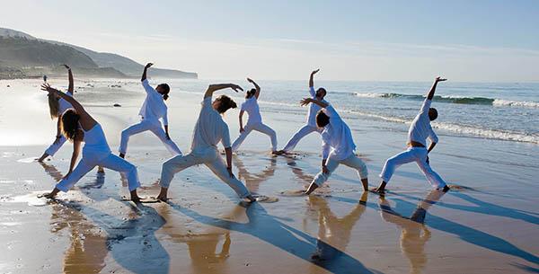 Paradis Plage beach yoga