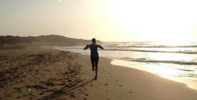 Beach running at F12