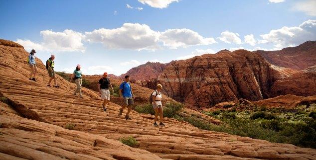 Hiking at Red Mountain in Utah