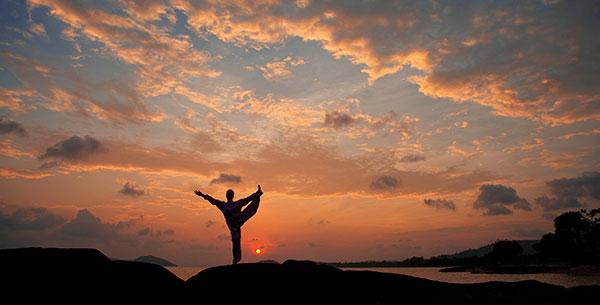 Kamalaya sunset yoga