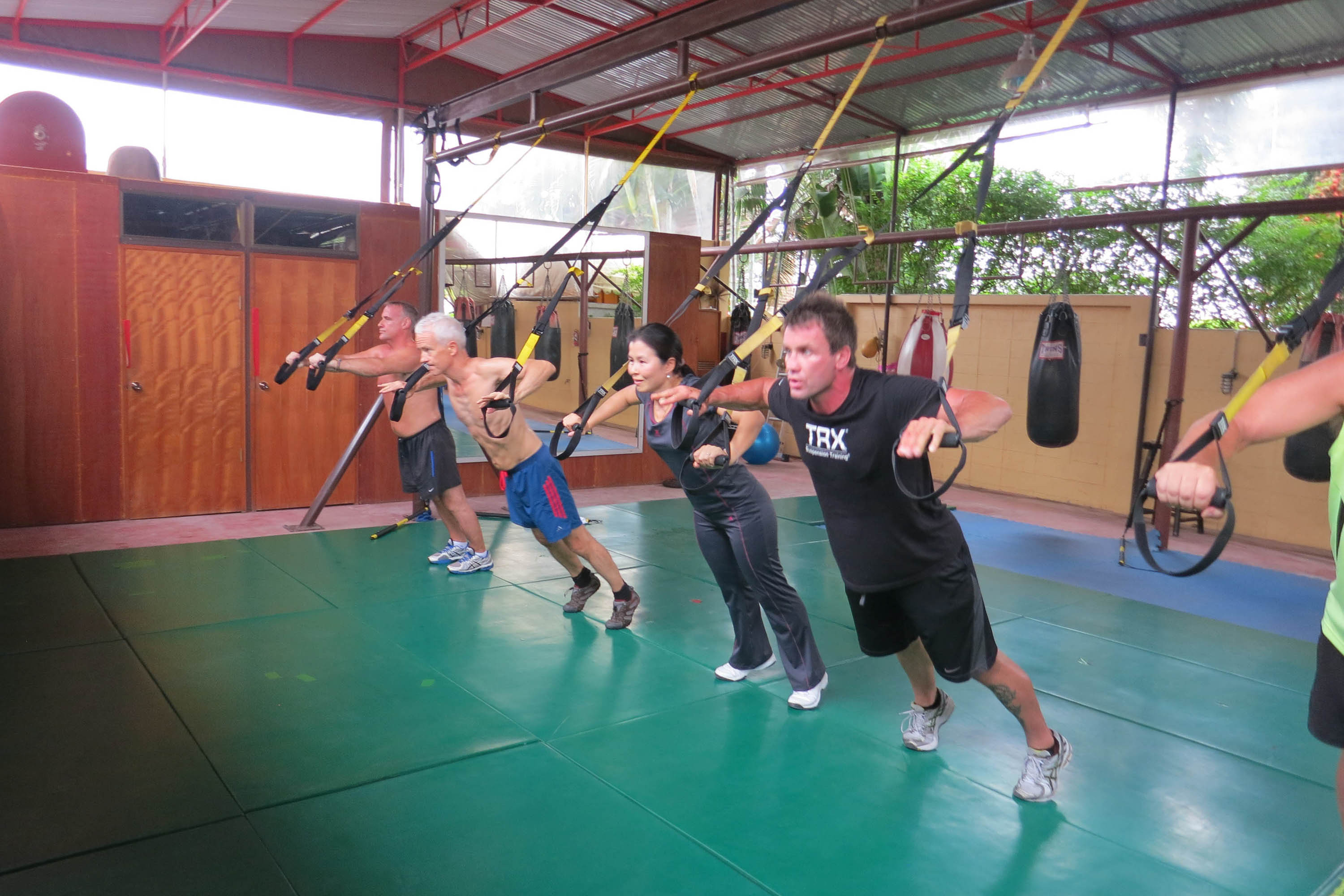 TRX fitness at Phuket Cleanse Detox Fitness in Thailand