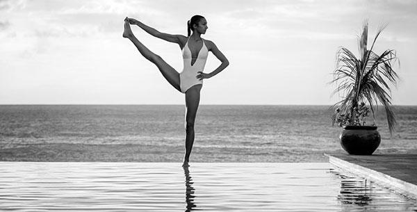 The BodyHoliday pool yoga