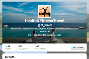 Health and Fitness Travel Twitter page