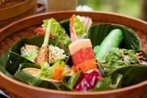 Healthy salad on holiday