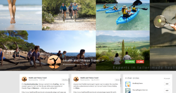 Health and Fitness Travel Google+ page