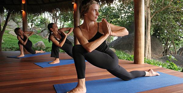Kamalaya yoga class