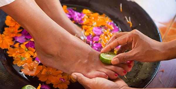 Foot treatment at Kamalaya