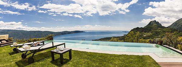 view from lefay of lake garda