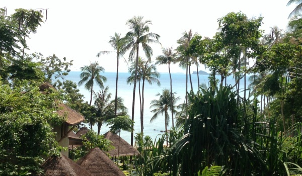 A room with a sea view in Kamalaya, Thailand