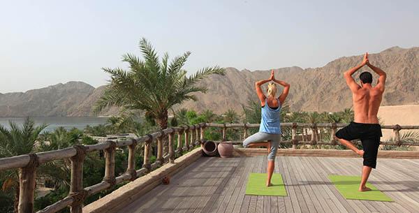 Yoga at Zighy Bay